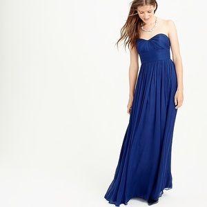 JCrew Marbella Silk Chiffon Dress in Cabernet